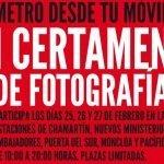 Metro desde tu móvil – I certamen de Fotografía