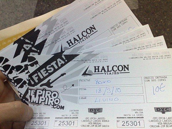 Ya tengo las entradas para la fiesta mepirovampiro.com de Halcon Viajes