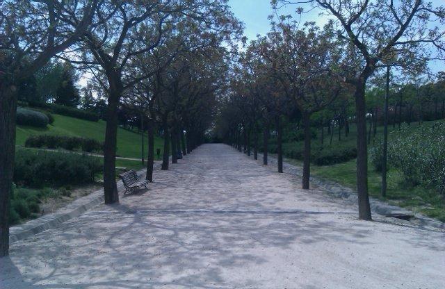 Paseo por el parque Enrique Tierno Galván en Méndez Alvaro