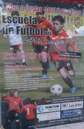 Abierto el plazo de inscripción para la escuela de futbol, Atletico de PintoAbierto el plazo de inscripción pa ra la escuela de futbol, Atlético de Pinto.