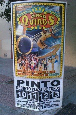 Circo Quiros en el recinto de la Plaza de Toros de Pinto