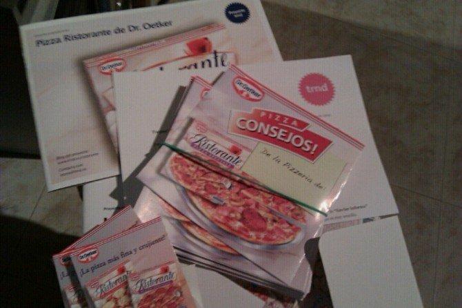 Que guay, me ha llegado el pack de Pizzas de Dr. Oetker por cortesía de Trnd.es