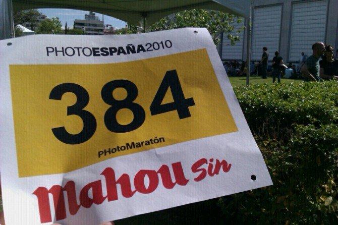 Ya tengo mi dorsal para el #Photomaraton de mahou