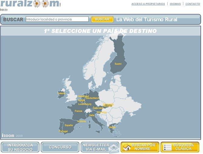 Ruralzoom.com, primera Web europea de Turismo Rural de georeferenciación