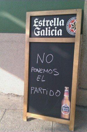 En Palas del Rei hay un bar donde no ponen el partido