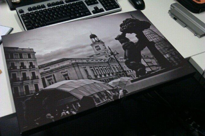 Me acaba de llegar el lienzo con la foto que mandé a @holalienzo