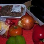 Berenjenas rellenas de carne gratinadas con salsa bechamel y queso