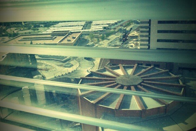 Vistas desde la habitación del hospital 12 de octubre