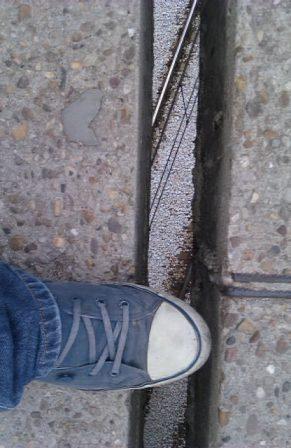 El suelo se abre a mis pies