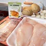Receta de pollo relleno de champiñón y bacón a las hierbas provenzales