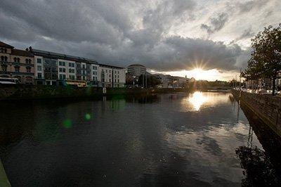 El Río Liffey en Dublín