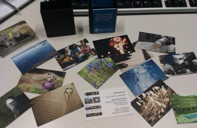 Me han llegado mis tarjetas de visita Moo