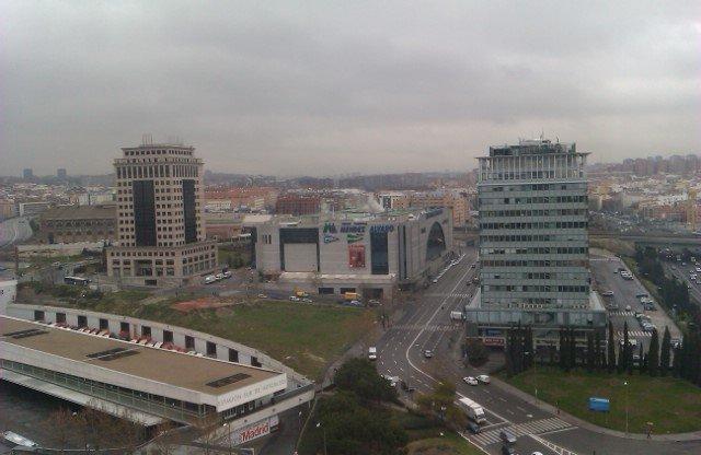Vistas de Madrid nublado
