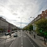 El obelisco de metal en Dublín