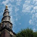 Copenhague desde las alturas de la torre de Vor Frelsers Kirke