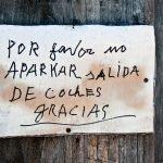 334/365 POR favor no APARKAR sALIDA DE cochES gRACIAS