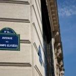 La avenida de los Campos Elíseos de París