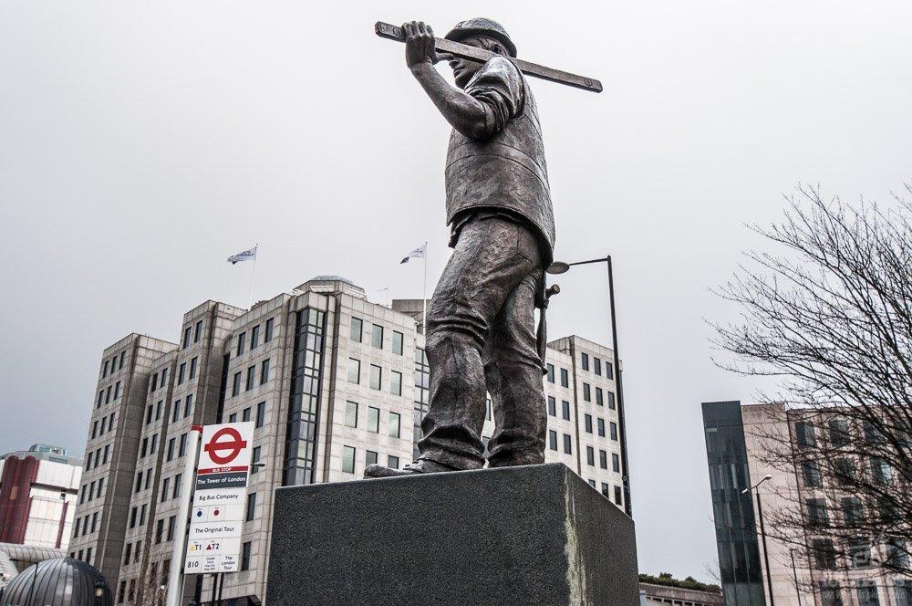 Estatua Trabajadores en Londres