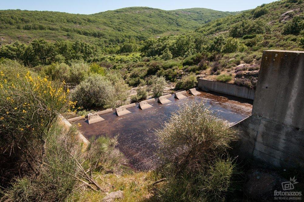 La presa de las Majadillas en Jaraíz de la Vera