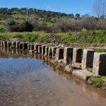 Las «Poldras» sobre el río Ponsul en Idanha-a-Velha