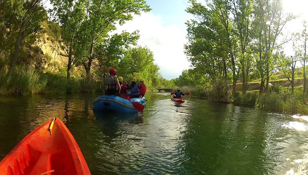 Piragüismo y Rafting en el río Guadiela de Cuenca