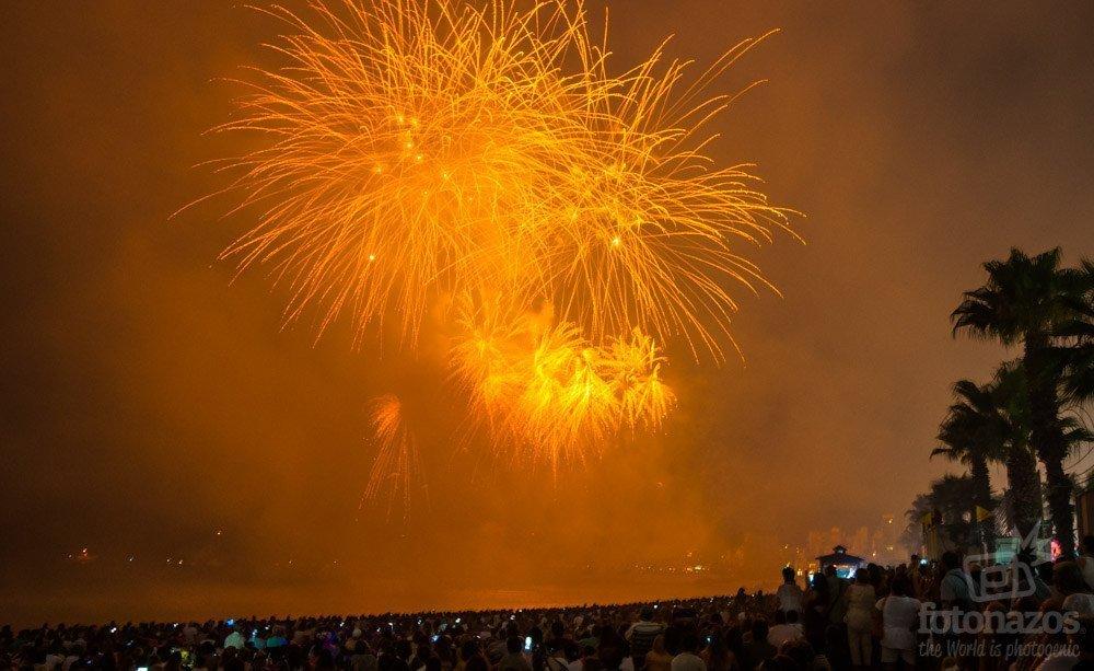 Concurso internacional de fuegos artificiales de la Costa Brava en Blanes