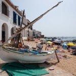 La playa de Port Bo y las Voltes de Calella de Palafrugell
