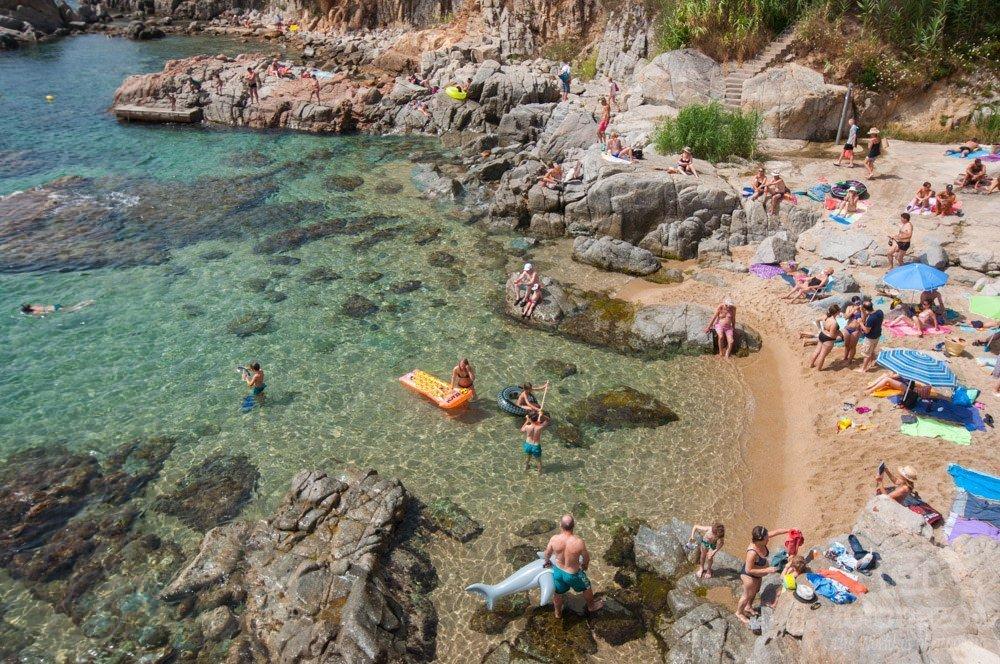 Playa de Sant Roc en Calella de Palafrugell