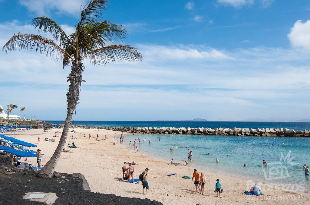 Playa Flamingo en Playa Blanca, Lanzarote