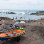 Playa de El Puertillo en la costa de Arucas, Gran Canaria