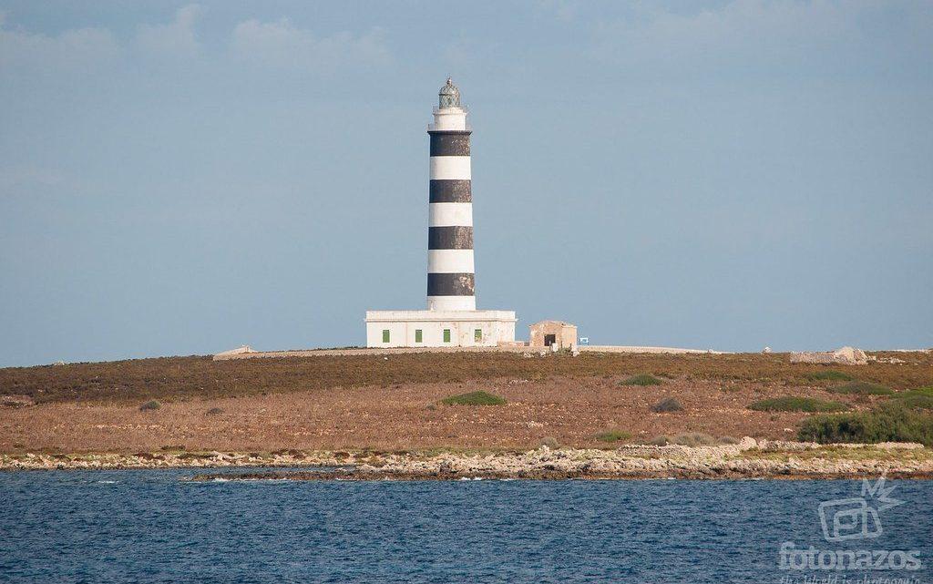 Faro de la Isla del Aire en Menorca