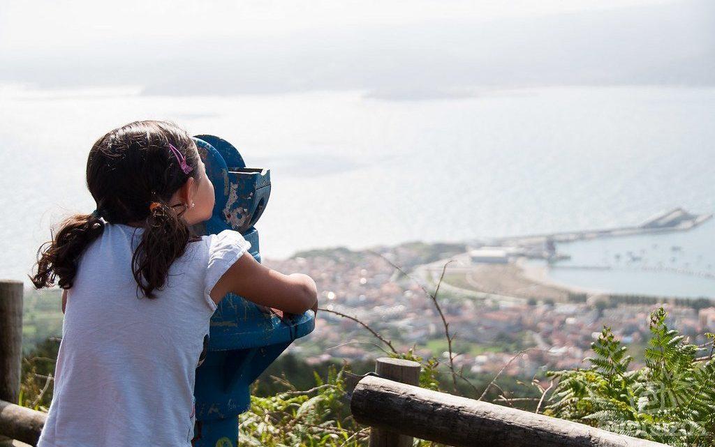 Miradoiro do Limo, con vistas a la ría de Ortigueira y Cariño