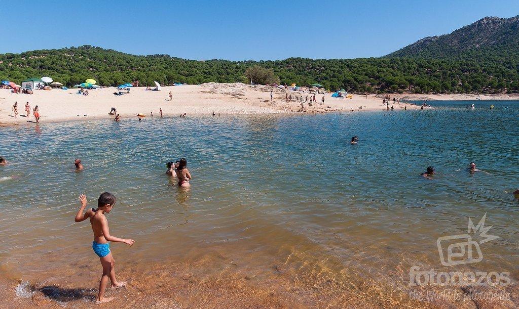 Playa de la Virgen de la Nueva en el Pantano de San Juan
